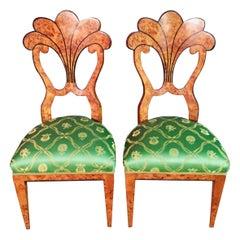 20th Century 2 Vienna Biedermeier Style Fan Form Formed Chairs