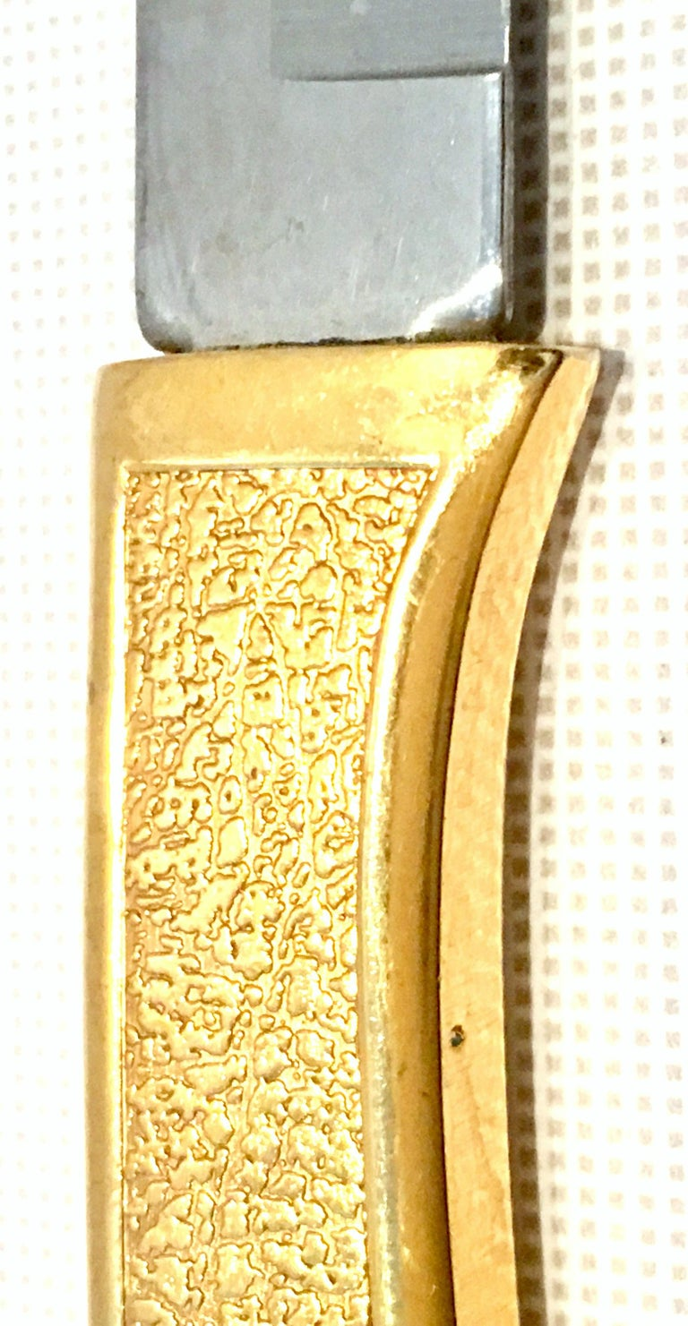 20th Century 23-K Gold Steak Knife Boxed Set of Eight Pieces by, Carvel Hall For Sale 2