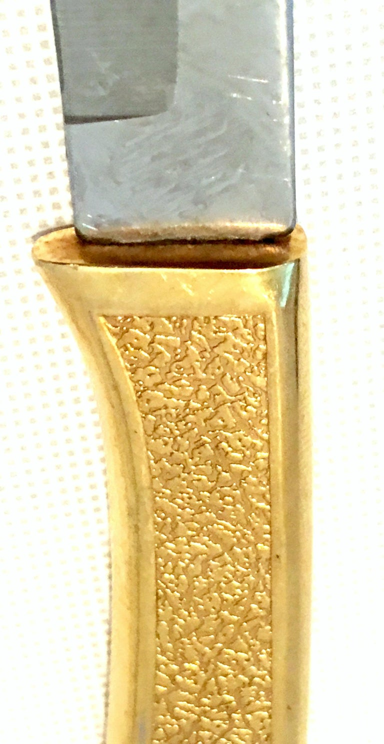20th Century 23-K Gold Steak Knife Boxed Set of Eight Pieces by, Carvel Hall For Sale 3