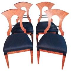 20th Century 4 Biedermeier Style Chairs, Vienna