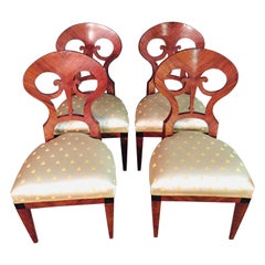 20th Century 4 Vienna Biedermeier Chairs after Josef Danhauser
