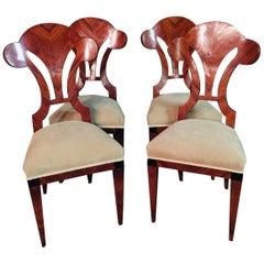 20th Century 4 Vienna Biedermeier Style Chairs