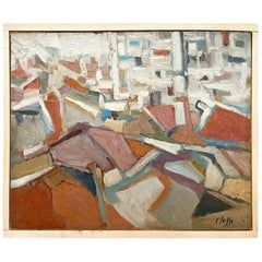 20th Century Abstract Composition of Books, French Painting by Daniel Clesse