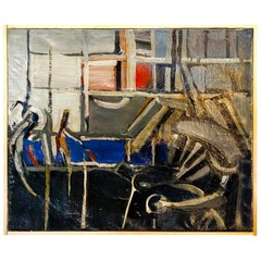20th Century Abstract Interior, French Painting by Daniel Clesse