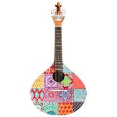 20th Century Acessorie Azulejo III Guitar Walnut Wood Handpainted