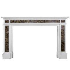 20th Century Adam Style Marble Inlay Fireplace Mantelpiece