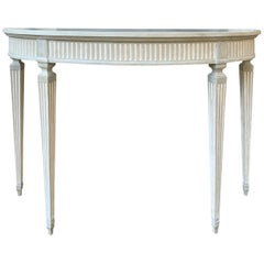 20th Century Adams Style Custom Painted Demilune Console, circa 1970s