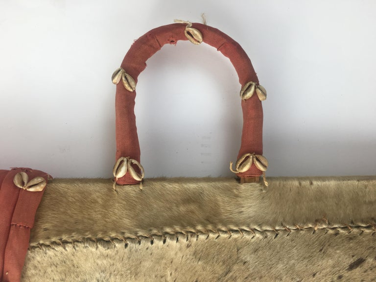 20th Century African Tribal Sword with Holder For Sale 1