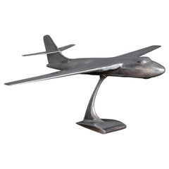 20th Century Aluminium Model of a Vickers Valiant Bomber Airplane, c.1970
