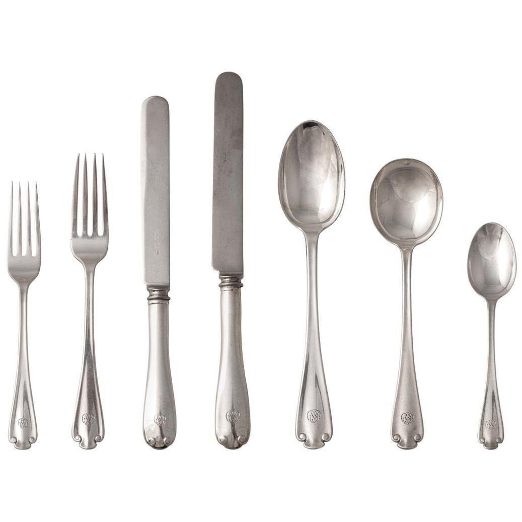 20th Century American 12 Person Solid Silver Dinner Service, Tiffany & Co.