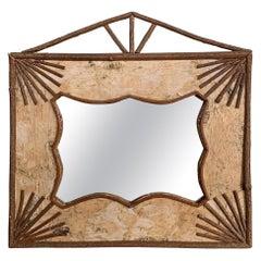 20th Century American Adirondack-Style Mirror