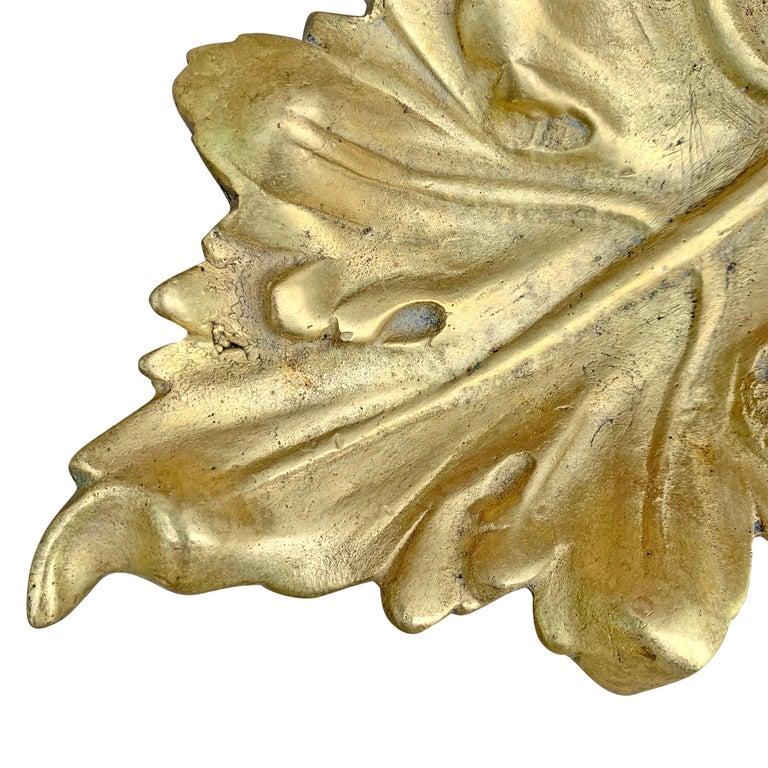 20th Century American Cast Bronze Leaf Dish For Sale 1