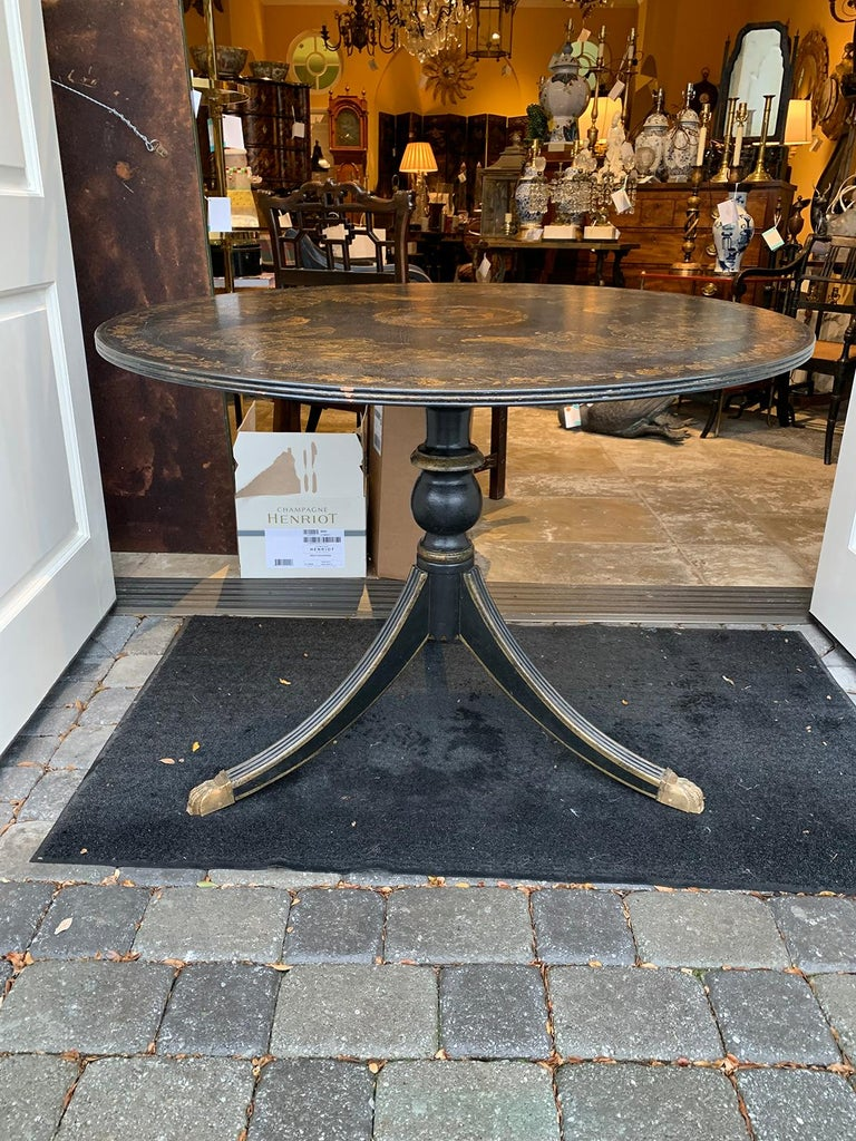 20th Century American Federal Style Painted Pedestal Table 2