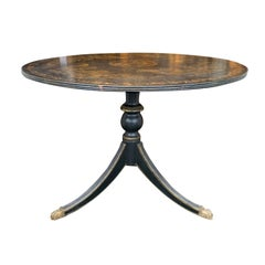 20th Century American Federal Style Painted Pedestal Table