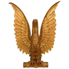 20th-Century American Gilt Carved Eagle Wall Plaque
