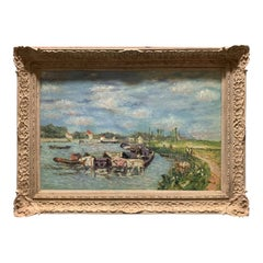 20th Century American Impressionist Oil Painting of River Scene by John Clymer