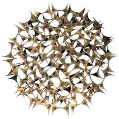 20th Century American Metal, Brass Wall Sculpture by Marc Weinstein