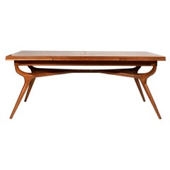 20th Century American Oak RomWeber Extendable Dining Table by Harold Schwartz