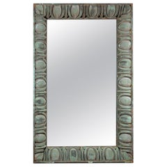 20th Century American Oversized, Zinc Wall, Floor Mirror from the Rialto Theater