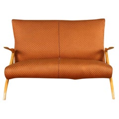 20th Century American Plywood Settee, Sofa in the Style of Vladimir Kagan