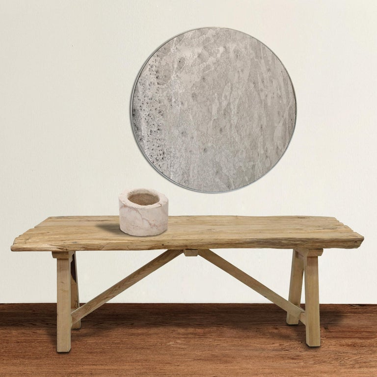 Rustic 20th Century American Trestle Table For Sale