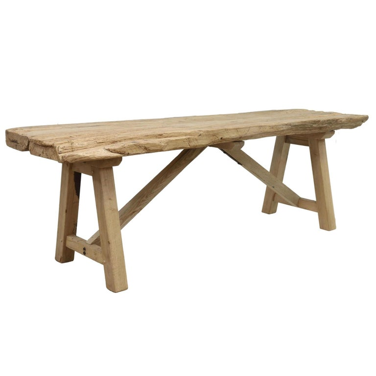 North American 20th Century American Trestle Table For Sale