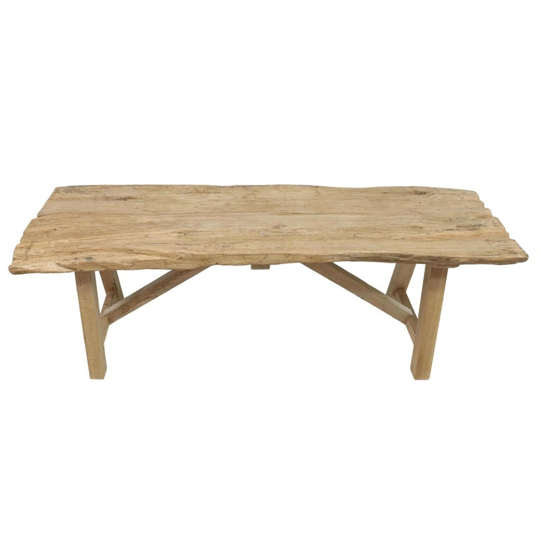 Oak 20th Century American Trestle Table For Sale