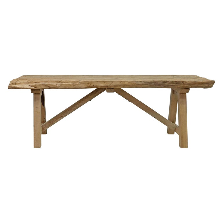 20th Century American Trestle Table For Sale