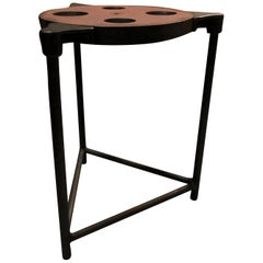 20th Century American Vintage Industrial Machinist Table, Metal Side Table