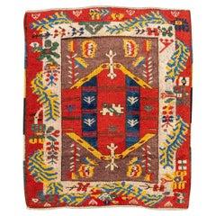 20th Century Anatolian Antique Rug, Ethnic Design, circa 1920