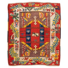 20th Century Anatolian Antique Rug, Ethnic Design, circa 1920