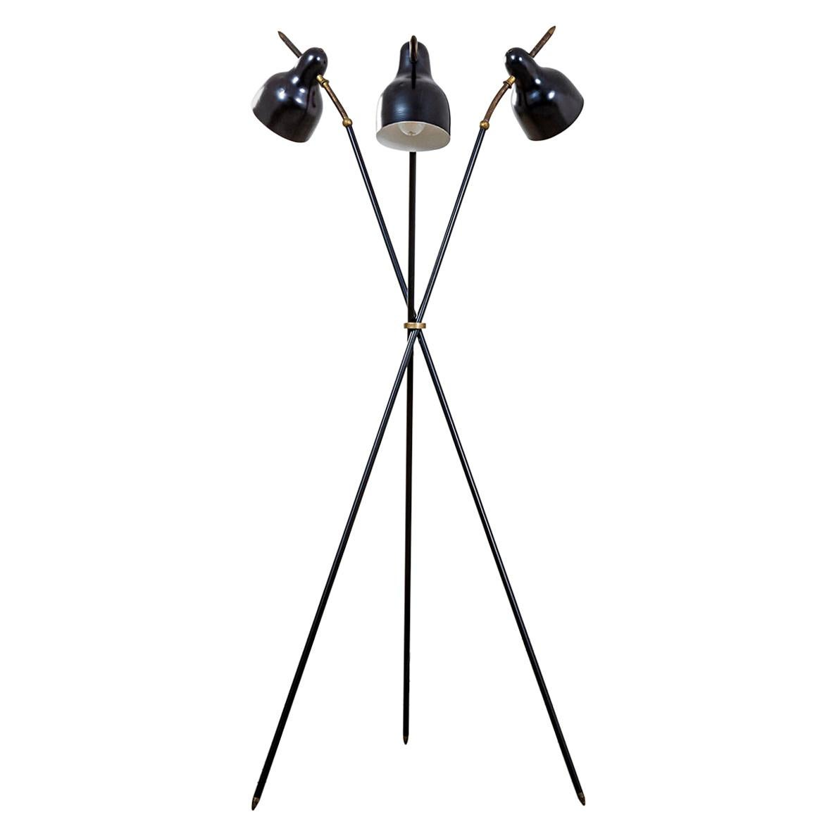 20th Century Angelo Lelii Floor Lamp by Arredoluce with Adjustable Diffusers
