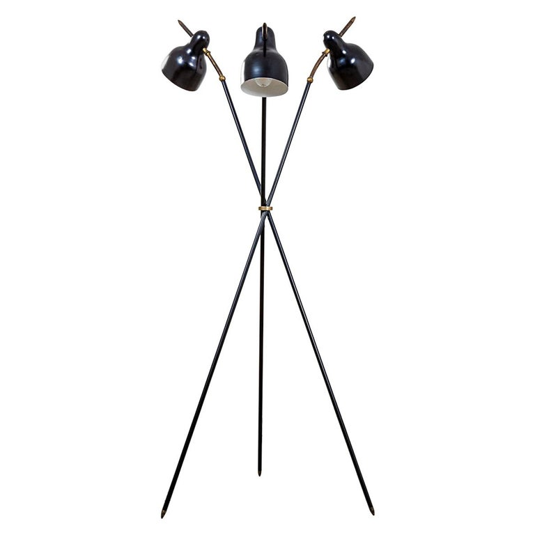 20th Century Angelo Lelii Floor Lamp by Arredoluce with Adjustable Diffusers For Sale