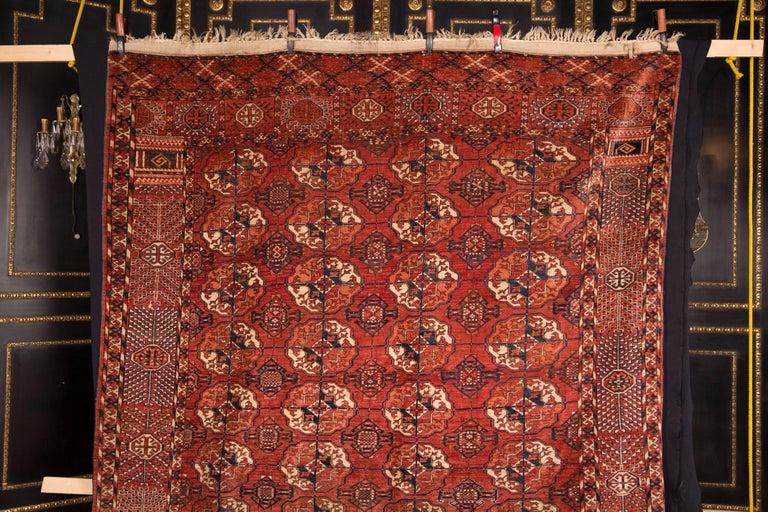 Wonderful antique rare Buchara carpet.