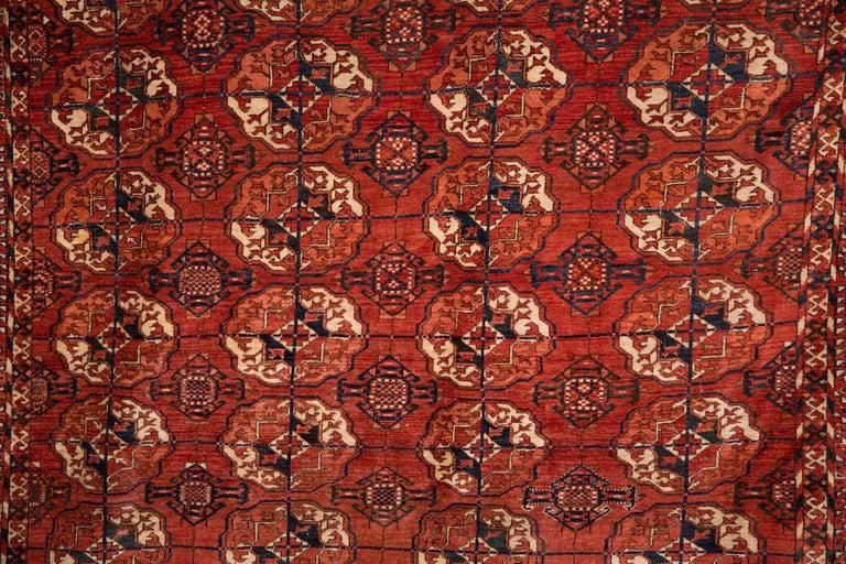 Afghan 20th Century Antique Buchara Carpet Rug For Sale