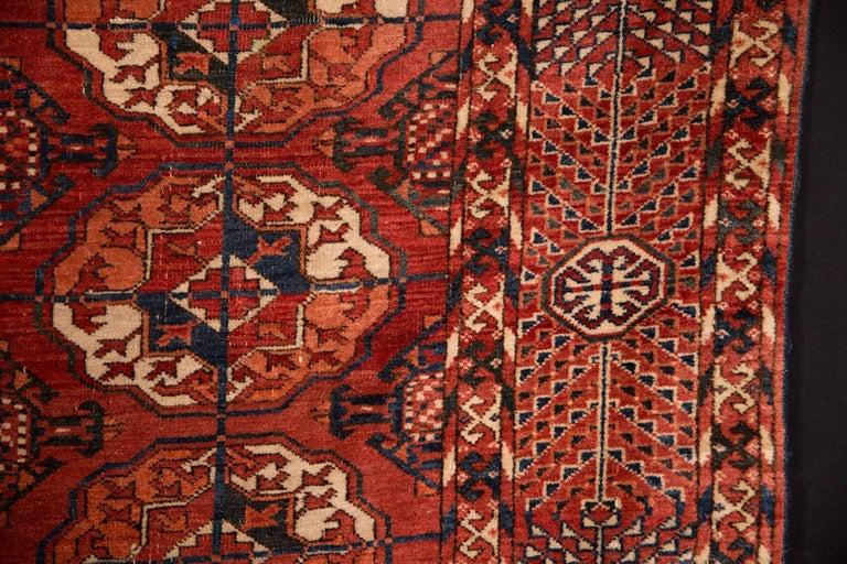 Wool 20th Century Antique Buchara Carpet Rug For Sale