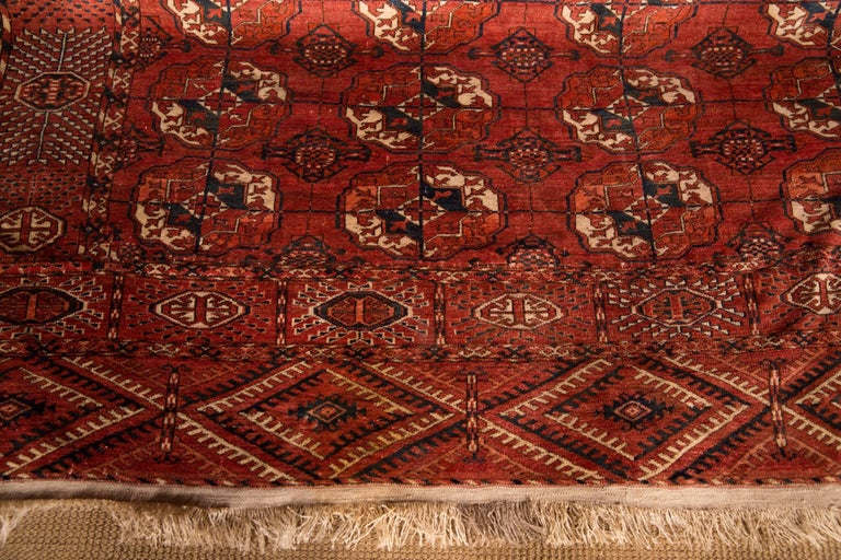 20th Century Antique Buchara Carpet Rug For Sale 2
