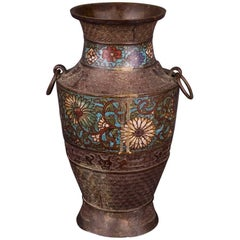20th Century Antique Chinese Cloisonné Bronze Vase