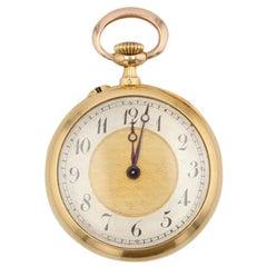20th Century Antique Diamond 18 Karat Yellow Gold Collar Watch
