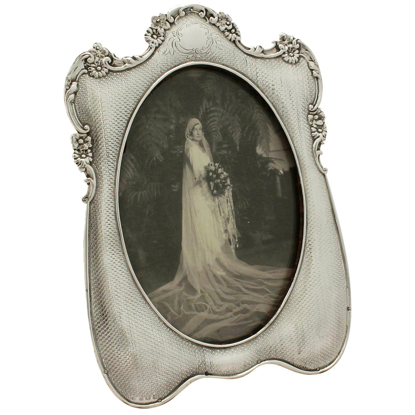 20th Century Antique Edwardian Sterling Silver Photograph Frame