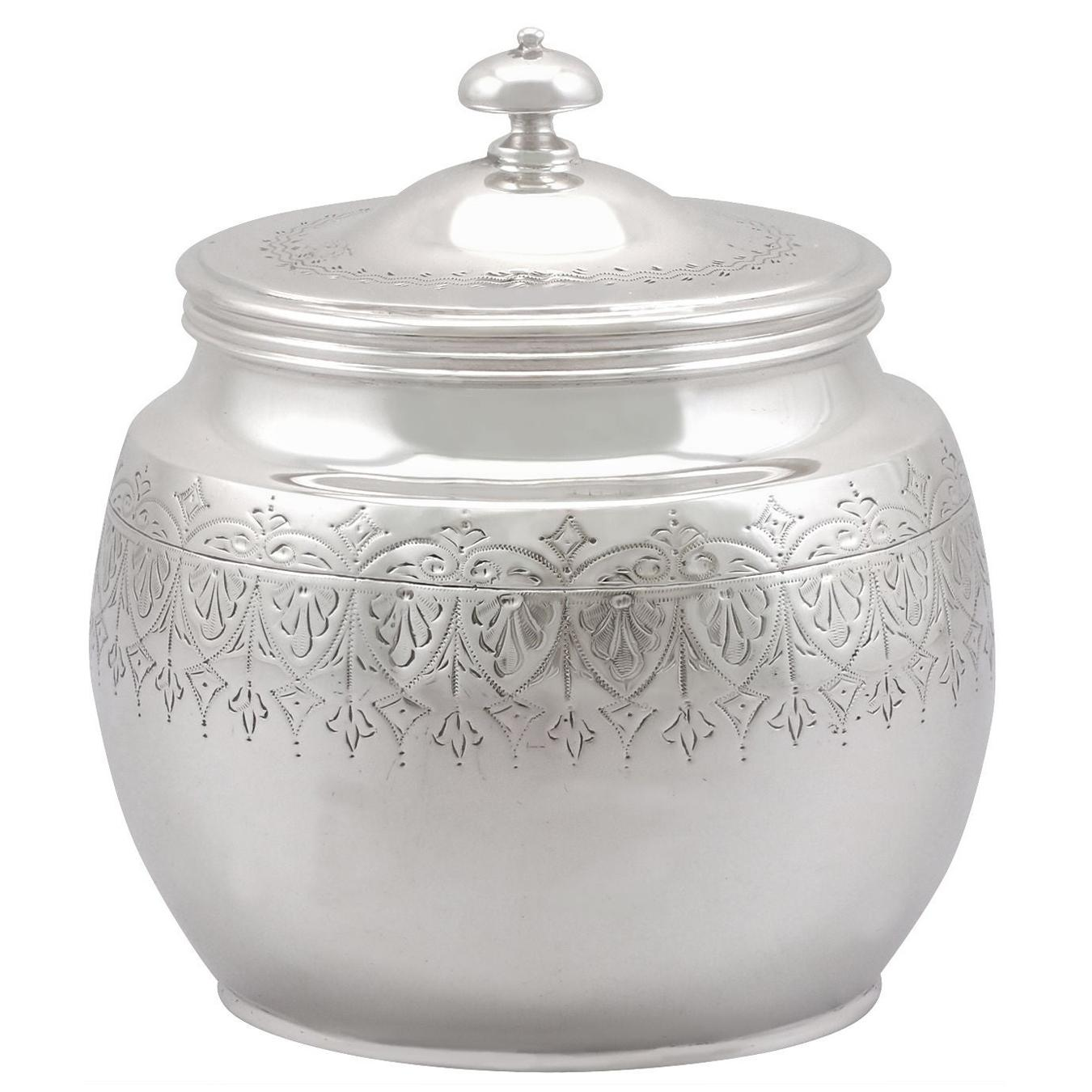 20th Century Antique George V 1914 Sterling Silver Tea Caddy