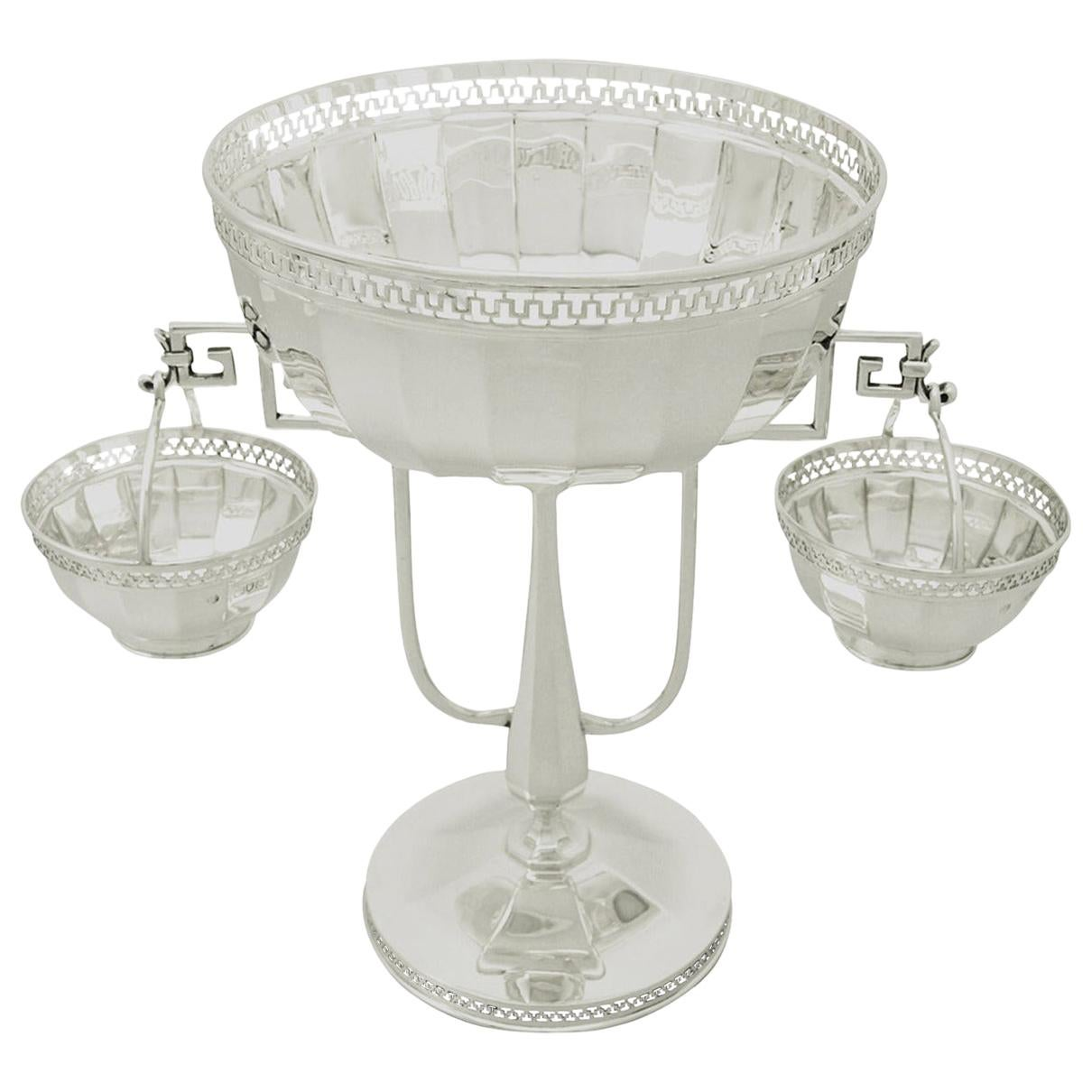 20th Century Antique George V Sterling Silver Centerpiece