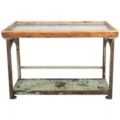 20th Century Antique Industrial Iron Workbench, H. J. Astle & Company