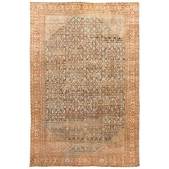 20th Century Antique Mahal Oversize Wool Rug