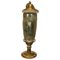20th Century Antique Murano Glass Golden Pharmacy Vase