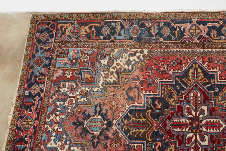 20th Century Antique Persian Heriz Carpet In Good Condition For Sale In Oakland, CA