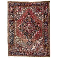 20th Century Antique Persian Heriz Carpet