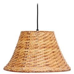 20th Century Antique Rattan Ceiling Lamp