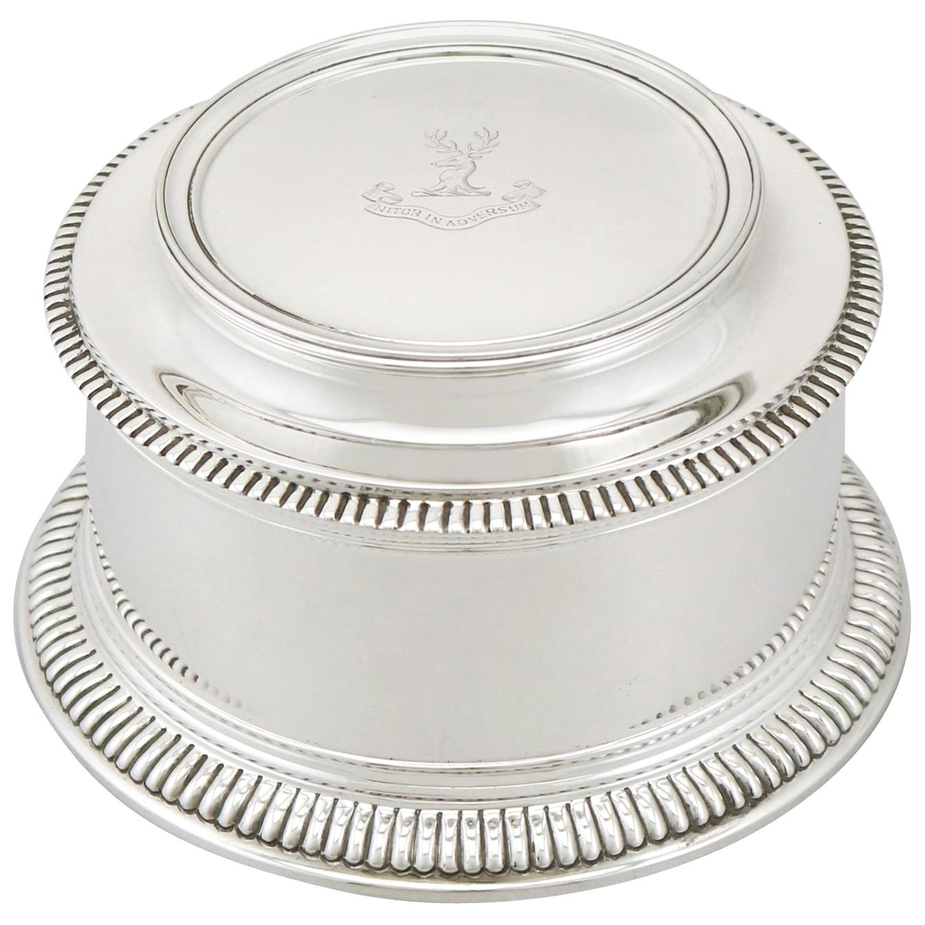 20th Century Antique Sterling Silver Box by Mappin & Webb Ltd