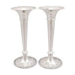 20th Century Antique Sterling Silver Flower Vases, 1913